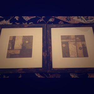 Set of pictures/wooden picture frames